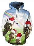 Unisex WeihnachtsAlpaka 3D Druck Hoodie