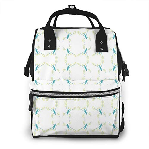 BOFJHASIFHAOAS Water Strider Mummy Bags Multi-Function Travel Backpack Nappy Bag