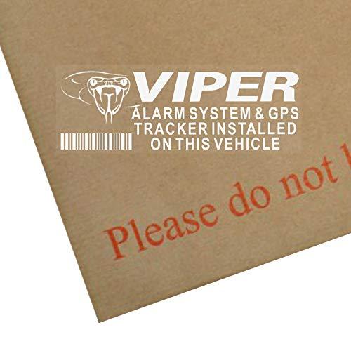 Lote de 5 pegatinas de alarma Viper y GPS rastreador, 87 x 30 mm, seguridad para ventana