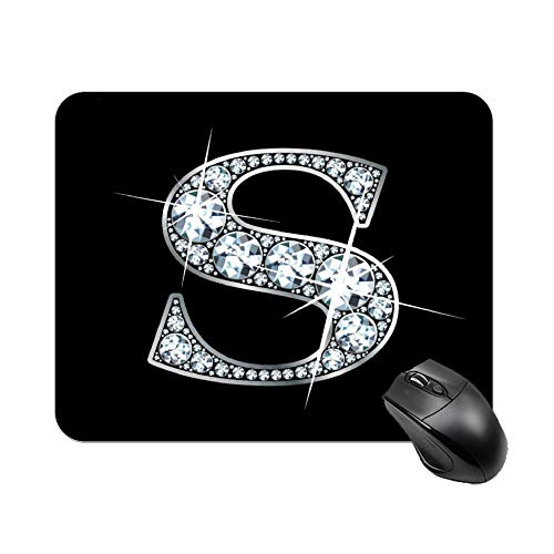 Gaming Mouse Pad S Diamond Bling Design Art Desktop and Laptop 1 Pack 22x18cm/7x8.66inch