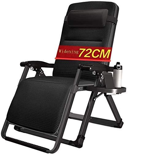 DFANCE Tumbonas ligeras de gravedad cero, silla reclinable de jardín para exteriores, playa, césped, camping, silla portátil, soporta 200 kg (color con cojín) (color con cojín)
