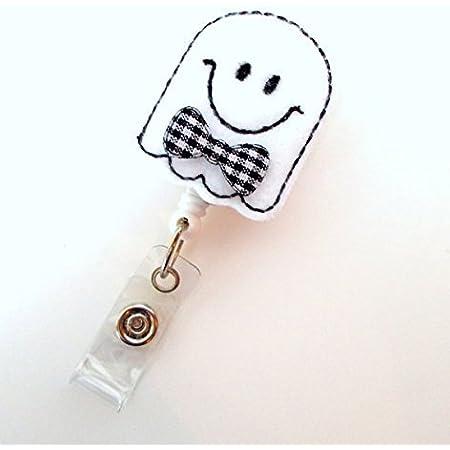 medical ID holder Halloween badge reel Ghost badge reel funny badge reel teacher badge reel badge reel charms nurse badge reel