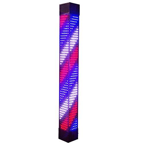 N / A lumière LED de Coiffeur, Style Classique Salon de Coiffure Barber Shop Open, Rouge tournant sauver Bande LED Bleu Blanc, Puissance imperméable à l'eau, 37,4 « / 95cm, B, B,Une