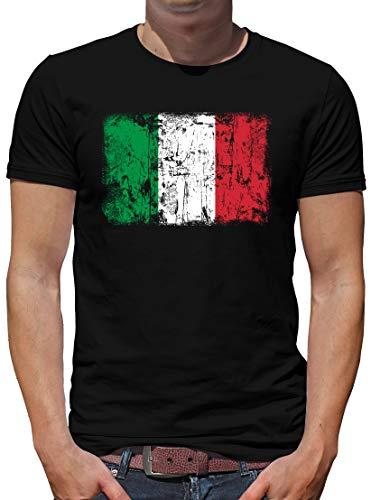 TShirt-People Italien Vintage Flagge Fahne T-Shirt Herren L Schwarz