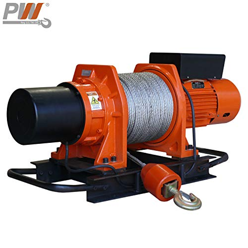 New Prowinch 1 ton Industrial Electric Winch 2500 lb Capacity Heavy Duty with Wire Rope Three Phase