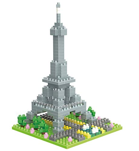 Wise Hawk Torre Eiffel de París. Modelo de Arquitectura para armar con nanobloques