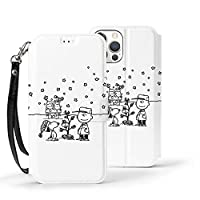 Iphone12ケース 手帳型 スヌーピー Iphone 12 Pro ケース 手帳型 アイフォン12/ Pro ケース Qi充電対応 横置き機能 12カバー 財布型 Tpu Puレザー 携帯カバー カード収納 マグネット式 カバー 指紋防止 黄変防止 超耐衝撃 人気 アイフォンケース
