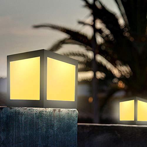 XiangXin Interruptor Principal de luz Amarilla/Control de luz con detección de luz de jardín, luz de Paisaje, césped de terraza para Parques, Patios Traseros, Patio, jardín