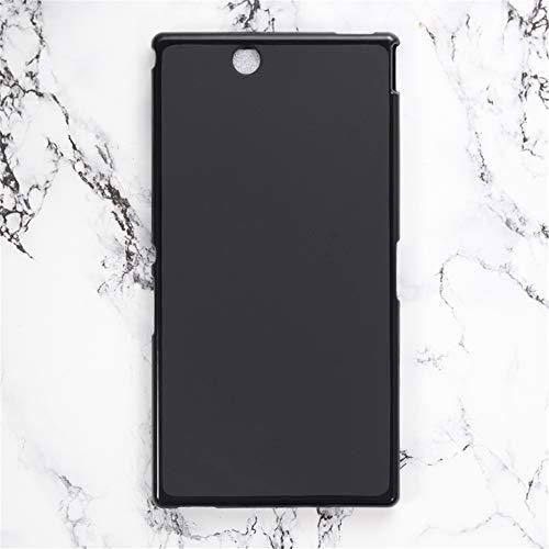 Custodia per Sony Xperia Z Ultra XL39H, resistente ai graffi, morbida cover posteriore in TPU antiurto in gomma gel di silicone antiurto anti-impronte per Sony Xperia Z Ultra XL39H (nero)