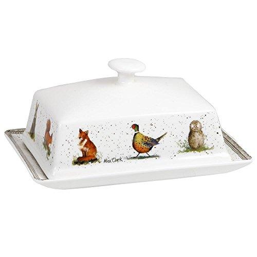 Alex Clark AC Wildlife Mantequilla Dish Funda, cerámica, Multicolor, 17x 13x 9,5cm