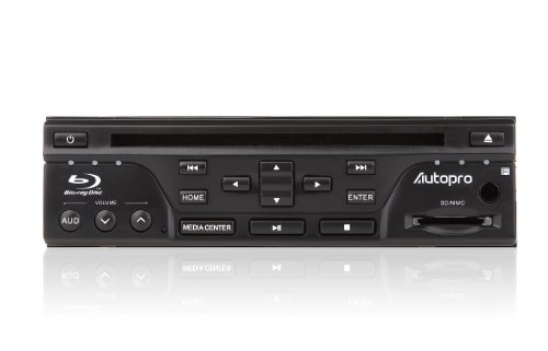 Autopro BD1208 in Dash One Din Size Blu-Ray DVD Player Without AM/FM Radio, Black