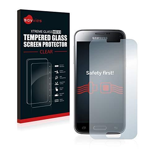 savvies Pellicola Vetro Temperato Compatibile con Samsung Galaxy S5 Mini SM-G800F Protezione Protettivo Schermo Glass Durezza 9H