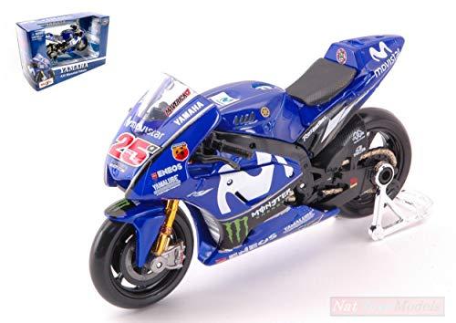 MAISTO MI31594MV Yamaha YZR-M1 Maverick VINALES MotoGP N.25 1:18 Die Cast Model