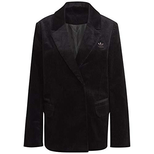 adidas Womens Originals Velvet Corduroy Blazer GU3000 Size S Black