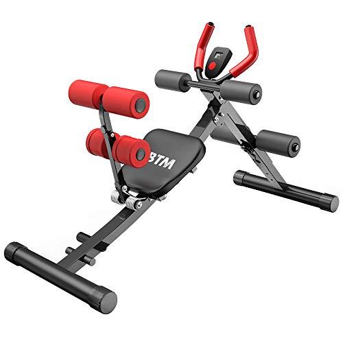 BTM トレーニングベンチ 腹筋マシン 女子用 折りたたみ デクラインベンチ インクラインベンチ 有酸素運動 ダイエット器具