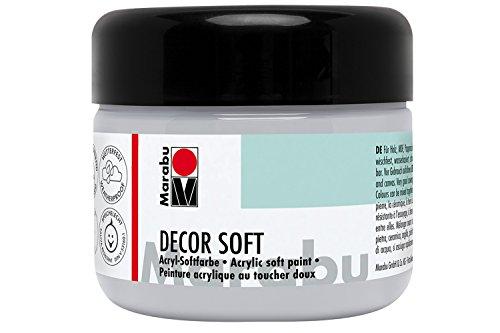 Marabu 14020025278 - Acryl Softfarbe, Decor Soft hellgrau 225 ml, auf Wasserbasis, lichtecht, speichelecht, schnell trocknend, sehr gut deckend, ergibt eine superweiche Oberfläche