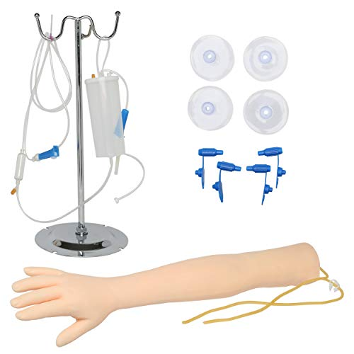 IV Übungsarm für Phlebotomie und Venenpunktion Praxis - Entwicklt zur Übung und Perfektionierung von intravenöser Blutabnahme/Aderlass/Phlebotomie - The Apprentice Doctor (Helle Hautfarbe)