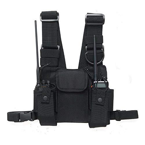 HAPPYX Brusttasche Brustgurt Rucksack für Funkgeräte der Marke Motorola, Baofeng, Kenwood Hip Hop Streetwear Taschen-Pack
