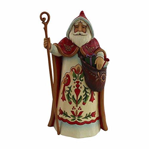 "Enesco Jim Shore Heartwood Creek Santa's Around The World Austrian Stone Resin, 7"" Figurine"