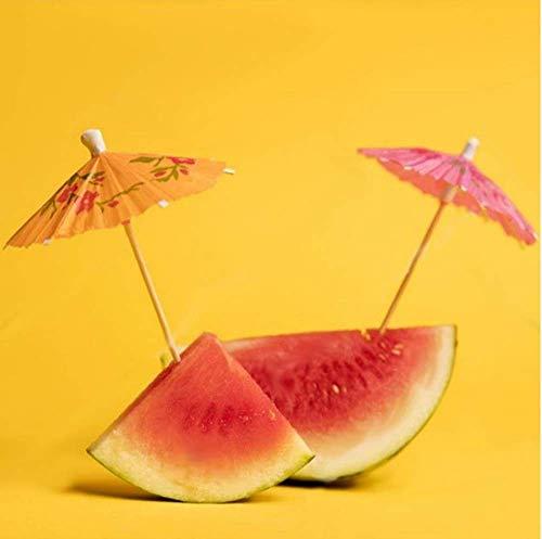 Cocktail Dekoration Papier,50 Stück Cocktail Picks Papier-Regenschirm für Bar Deko Cocktailzubehör Fiesta,Tropical Oder Beach Parties - 7