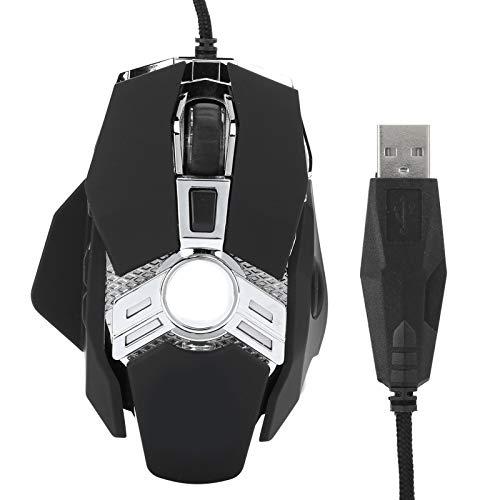 Goshyda Ratón para Juegos con Cable, 800/1600/6400 dpi 7 Bo