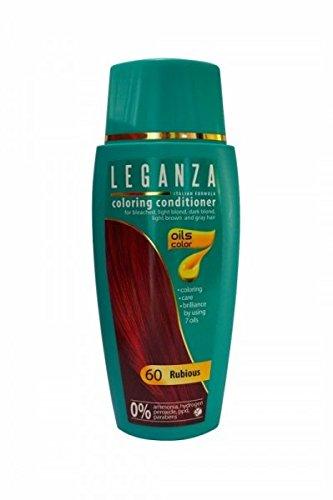 SPARSET 2 x Leganza Färbender Conditioner Farbe 60 Rubinrot Mit 7 Natürlichen Ölen Ammoniak und Paraben frei