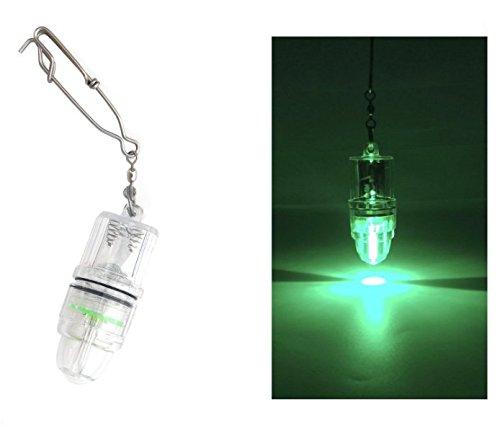 LED 管型 水深1000M 水中灯 集魚灯 強力集魚 夜間釣り フィッシング 照明 緑色 2枚入 LED フィッシングライト 釣り 350時間 電池交換可能(緑, 管型)