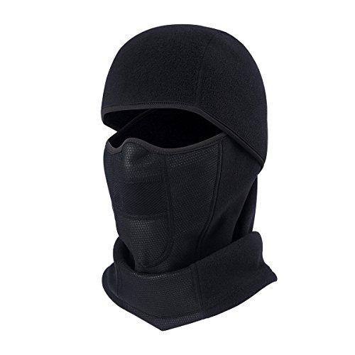 AYPOW Calientes Balaclavas Transpirables, Cubierta de máscara de Cara Gruesa de Ciclismo de Invierno con Panel de Malla, Calentador de Cuello a Prueba de Vientos con vellón