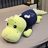 zcxbhd juguete de peluche relleno de muñeca de dinosaurio almohada de peluche linda y creativa adecuada para regalo de niños o novias,b 100cm