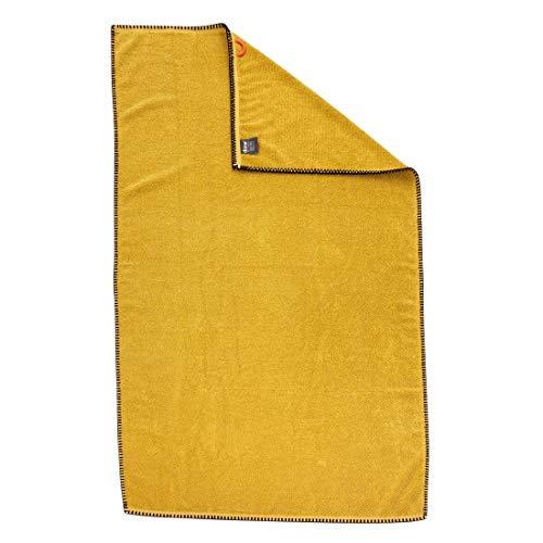 Duschtuch Deluxe Prime Gold - Badetuch mit Kettelrand schwarz - 100% Baumwolle - 70 x 140 cm