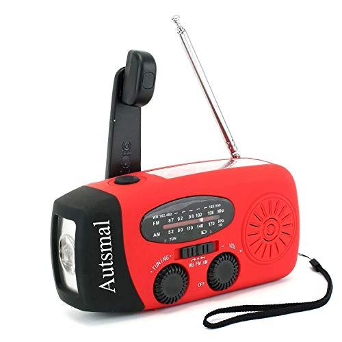 防災ラジオ 懐中電灯 手回し ソーラー ラジオ ライト 電池 USB充電 AM/FMラジオ太陽光充電 1000mAH付き 防災グッズ 地震震災津波台風停電緊急対策 iPhoneAndroidスマホ充電対応可能