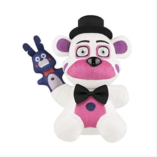 DINEGG Plüschtier 25cm Plüschspielzeug Fünf Nächte bei Freddy S Schwester Standort Zirkus Ballora Ennard Funtime Foxy Freddy Plüsch Puppe Sammeln Spielzeug YMMSTORY