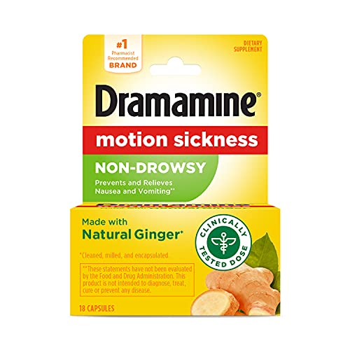 Dramamine Motion Sickness Non-Drowsy, 18 Count