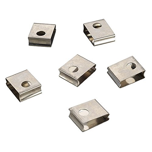Eutrac Eutrac Federclip für 3 Phasen Einbauschiene, (6er Pack), weiß 145551
