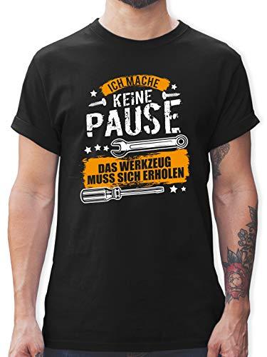 Handwerk - Ich Mache Keine Pause, das Werkzeug muss Sich erholen - XL - Schwarz - lustige Tshirts für männer - L190 - Tshirt Herren und Männer T-Shirts
