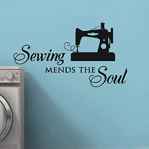 Muurstickers, zelfklevend, voor het repareren van zielen, naaien, tenten, decoratie, vinyl, zelfklevend, 57 x 33 cm