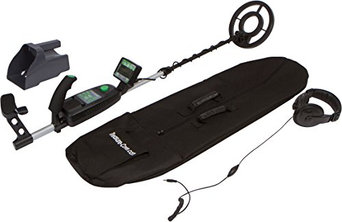 Treasure Cove TC-9700 Professional Easy-To-Read LCD Display, Custom & Auto Targeting, Waterproof Coil, Accessory Carry bag, Sand Scoop & Headphones, Adjustable Height & Volume Metal Detector Set For Adults