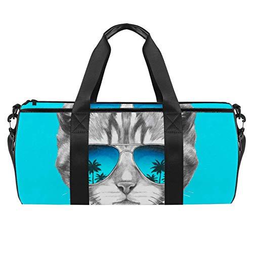 TIZORAX Reisetasche Katze mit Sonnenbrille, Turnbeutel