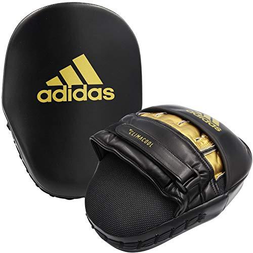 adidas Training Curved Focus Mitt Short Manoplas, Unisex Adulto, Negro y Dorado,...
