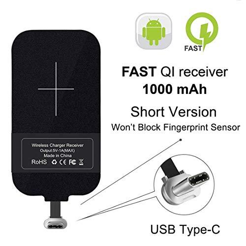 Nillkin Typ C Wireless Ladegerät Empfänger, Wireless Charging Receiver, Magic Tag USB C Qi Wireless Ladegerät Receiver Chip für Google Pixe/Nexus 6P & andere kleine Größe USB-C-Handye
