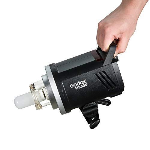 Godox MS300 Lámpara Flash de Estudio Compacto, Bowen Mount, 300W, Anti-preflash, Lámpara de Modelado, Función Flash Antiniebla