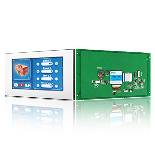 Módulo de Pantalla LCD TFT Inteligente HMI de 10.1 Pulgadas con Controlador + Interfaz Táctil + UART Serie y marco de metal