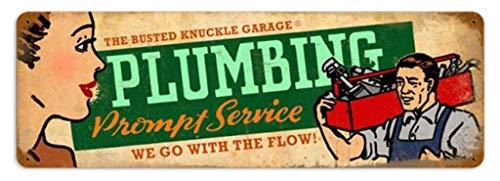 4 x 16 Inches Plumbing Service Retro Vintage Decor Metal Tin Sign