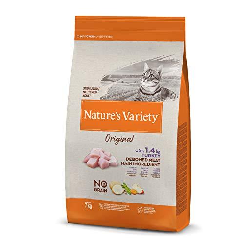 Nature's Variety Original No Grain - Pienso para gatos esterilizados con pavo deshuesado 7 Kg
