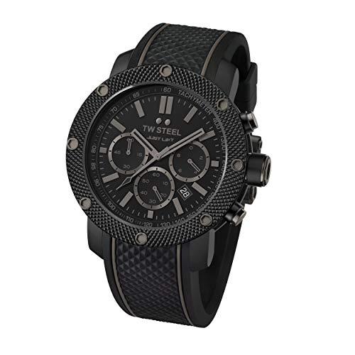 TW Steel Unisex Erwachsene Chronograph Quarz Uhr mit Silikon Armband TS13
