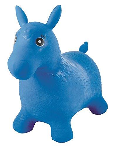 LEXIBOOK-Bg050 Poni Saltarín Hinchable Color azul Norme (BG050
