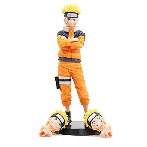 passer Naruto muñeca de cara intercambiable, figuras de acción de PVC modelo coleccionable juguete para dormitorio cabecera sala de estar
