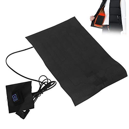 Elektrisches Heizkissen, USB-Temperatur einstellbares elektrisches Heizblatt USB-Heizkissen für Wäscheweste (mit...