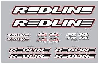 REDLINE Complete BMX Frame Decal Set White.