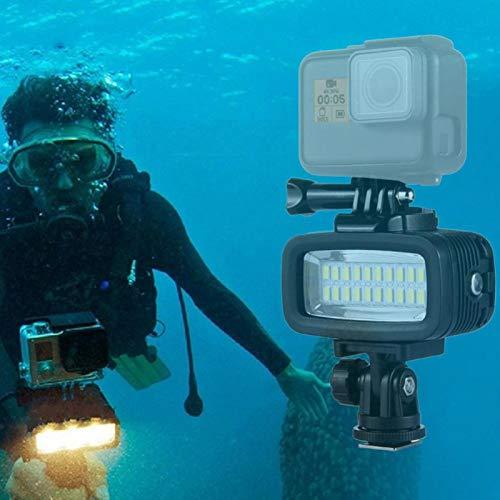 Shipenophy Accesorio de lámpara de luz de fotografía de Buceo de plástico ABS Duradero para dji Osmo Action/G(Black)